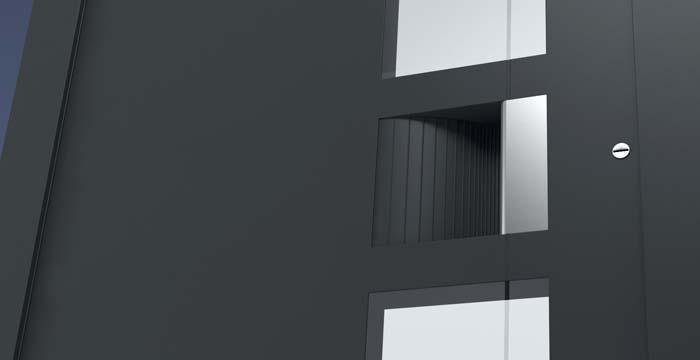 Alumínium házbejárati ajtók